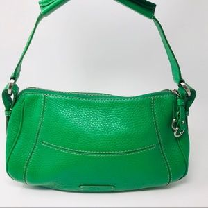 Cole Haan Kelly Green Pebbled Leather Satchel